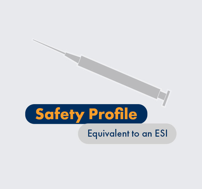 Graphic - HCP - Safety profile equivalent to an ESI