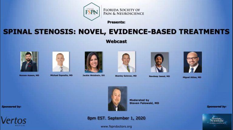 Webinar - FSPN Spinal Stenosis: Novel, Evidence-Based Treatments Webinar